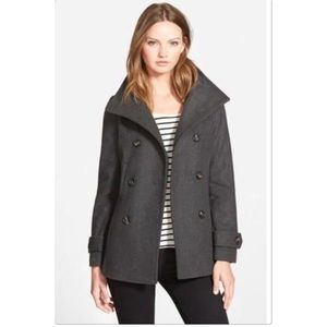 Thread & Supply Double Breasted Charcoal Pea Coat